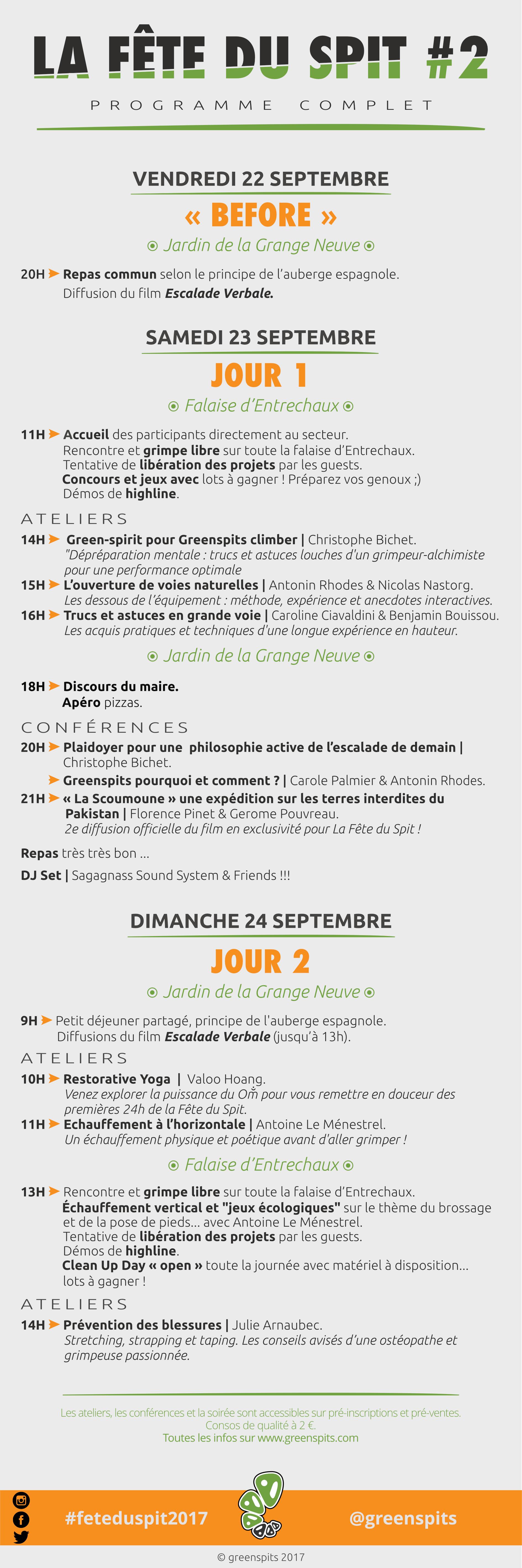 programme officiel fête du spit #2 2017 Greenspits