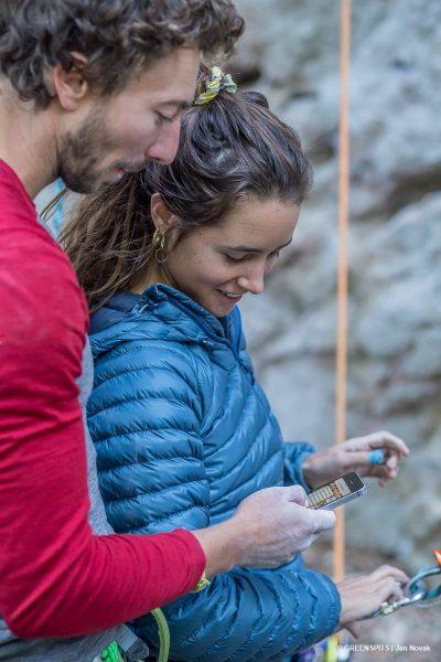 le topo greenspits d'Entrechaux disponible sur smartphone lors de la fête du spit #2 2017