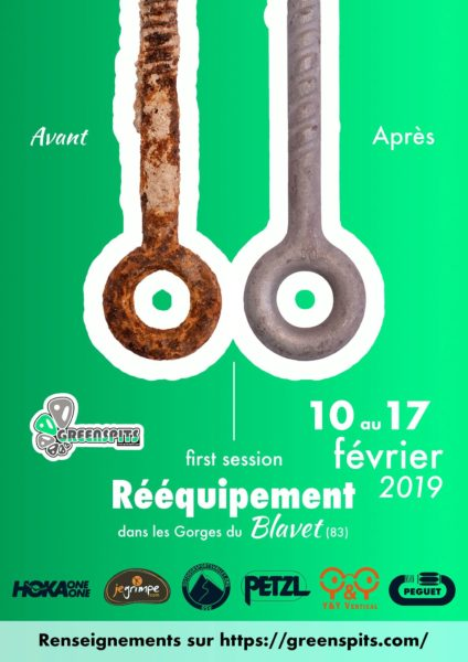 projet rééquipement Greenspits affiche de l'évènement